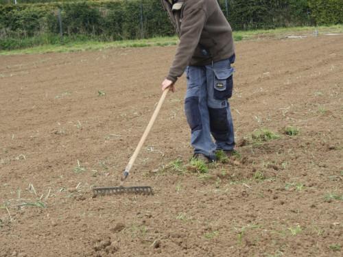 Bodenbearbeitung vor der Aussaat